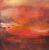 """""""Crimson rain"""", 2020 - 100x100 cm. - Olie på lærred"""